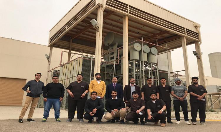 كلية الهندسة بعنيزة قسم الهندسة الكهربائية يقوم بزيارة ميدانية لمحطة القصيم المركزية